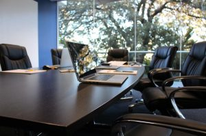 Boardroom before an annual report