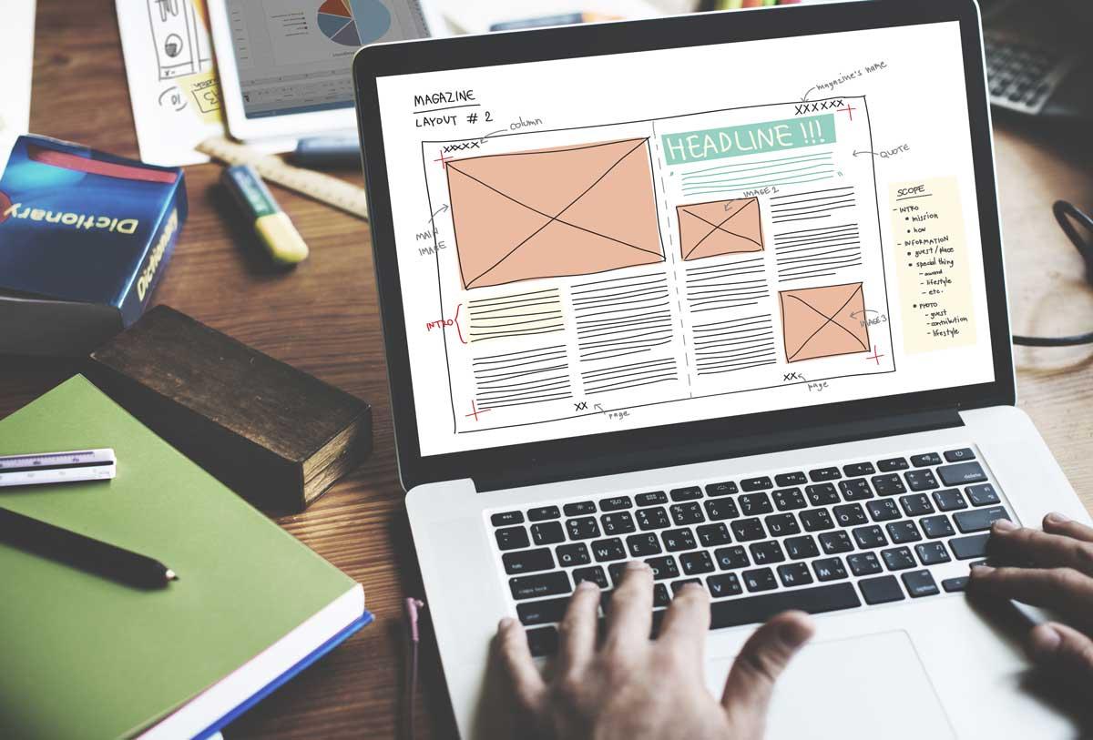 Online magazine layout design tips