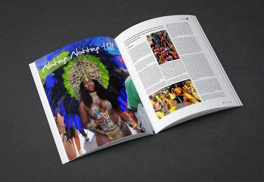 Magazine design: Bleu