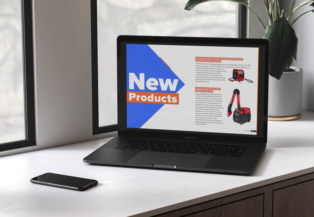 Digital magazine design and production: Welding Productivity