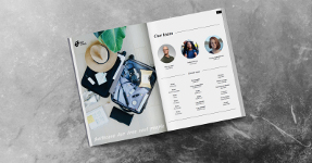 Travel and food magazine layout template