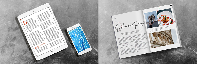 Online / digital magazine website versus print versus flipbook