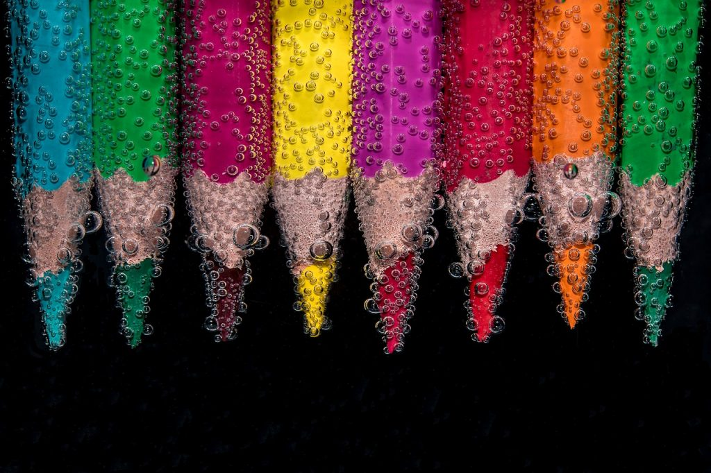Colored pencils as a metaphor for reader engagement