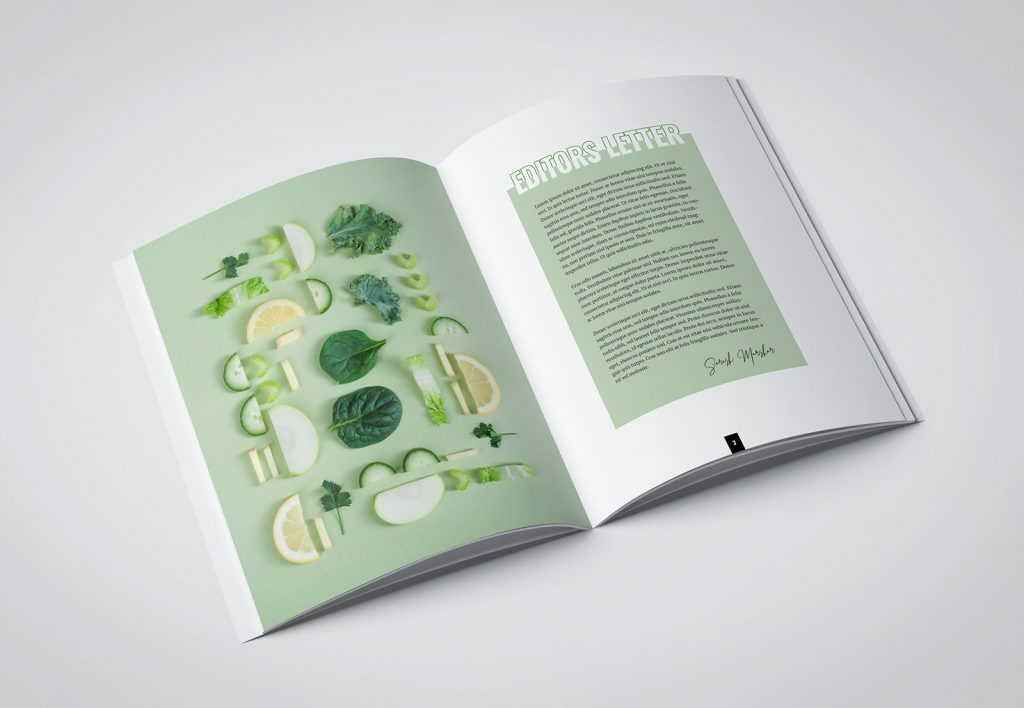 Green food magazine