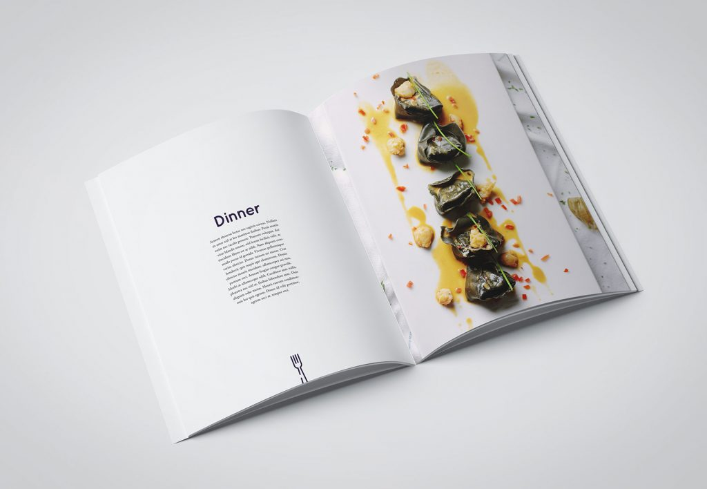 Minimalistic food magazine
