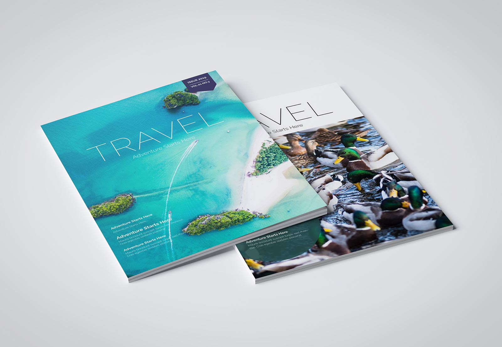 Travel magazine cover examples