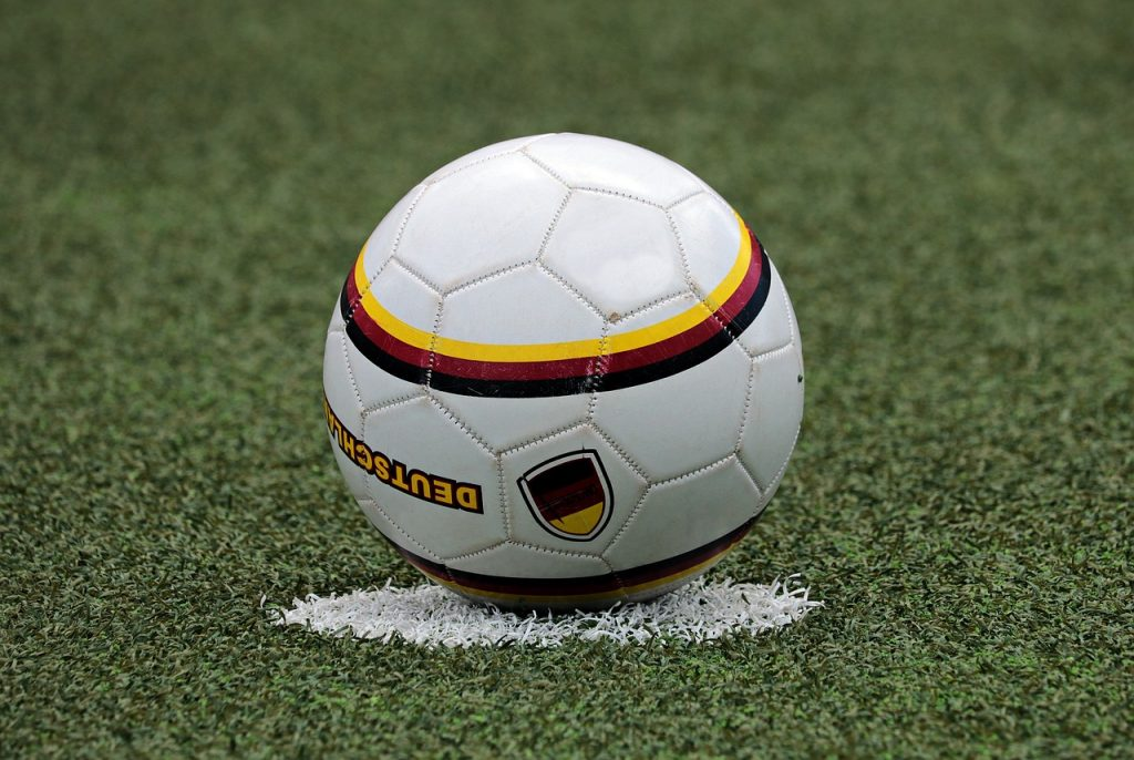 A soccer ball as symbol of the game of how to market an online magazine