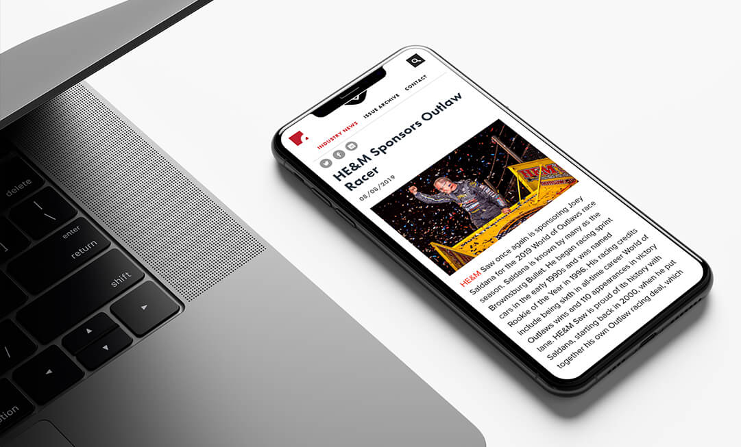 A positive spin on a negative magazine article (displayed on a smartphone)