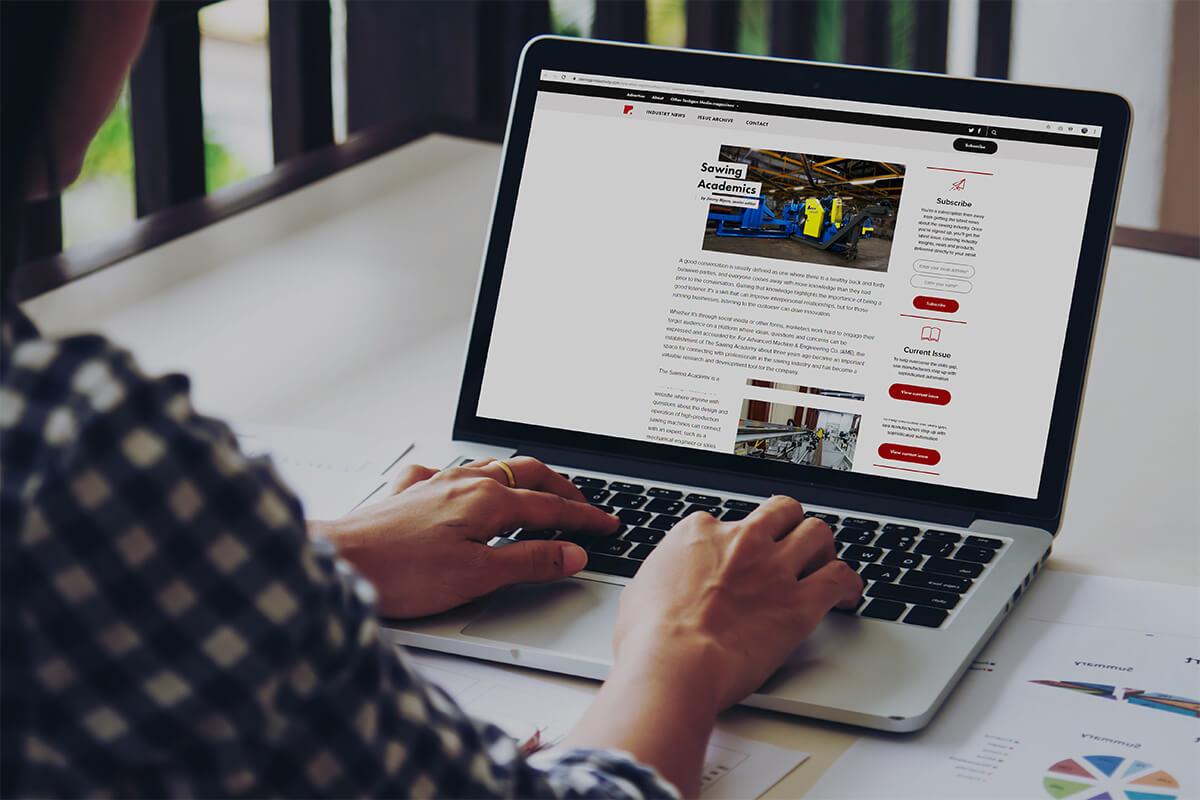 Magazine website found through email marketing services