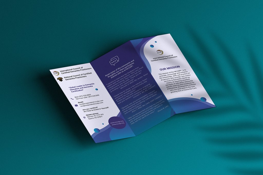 Brochure layout design example