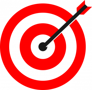 target illustration with arrow stuck in the bullseye