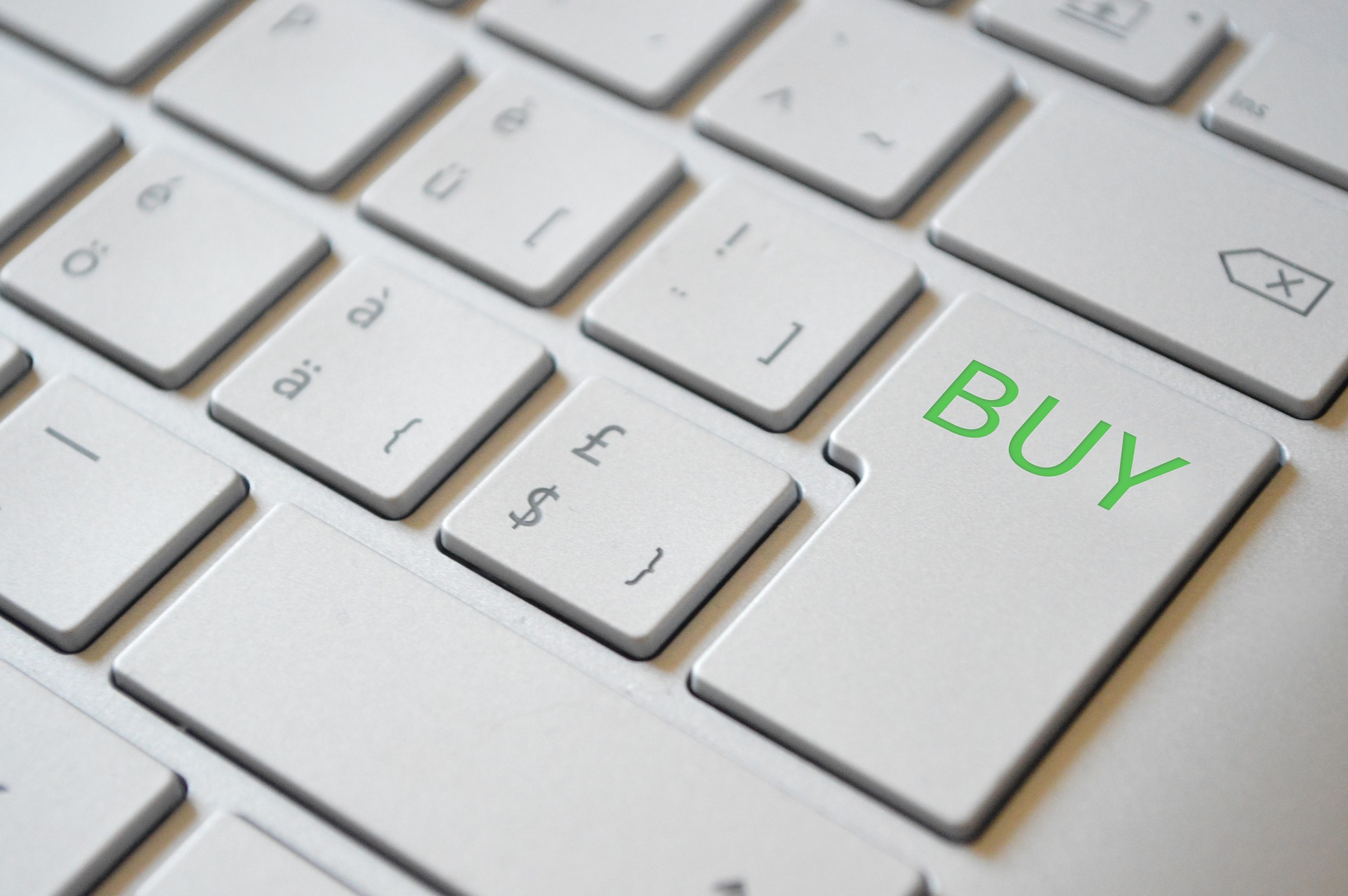 """""""BUY"""" call-to-action as the enter key of a keyboard"""