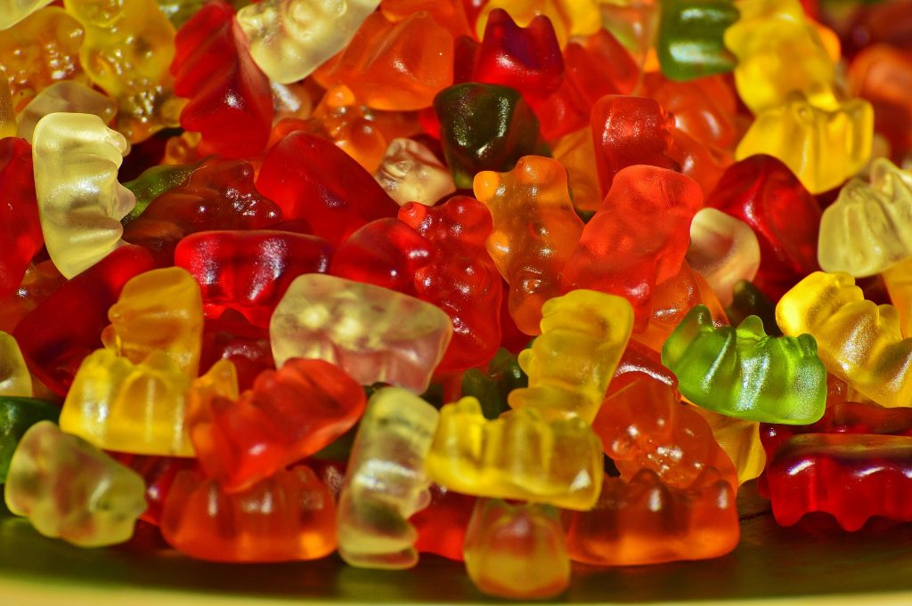 Gummy bears (alluding to the branding power of an experience and of shape)