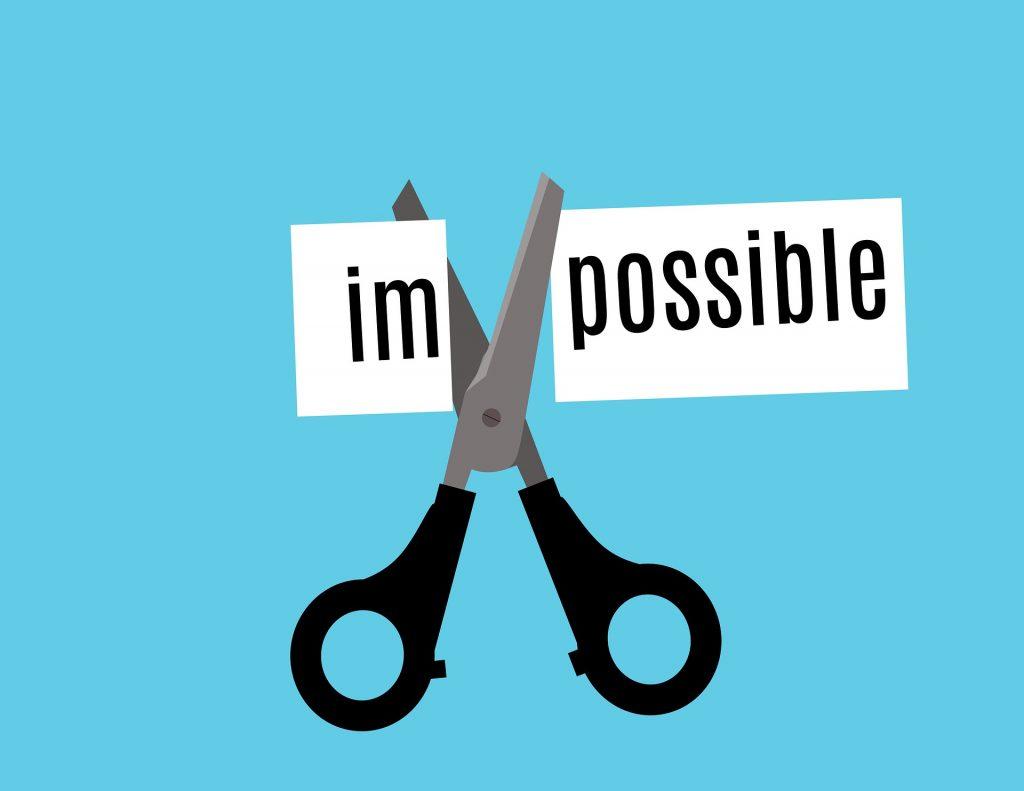 illustration of scissors cutting the