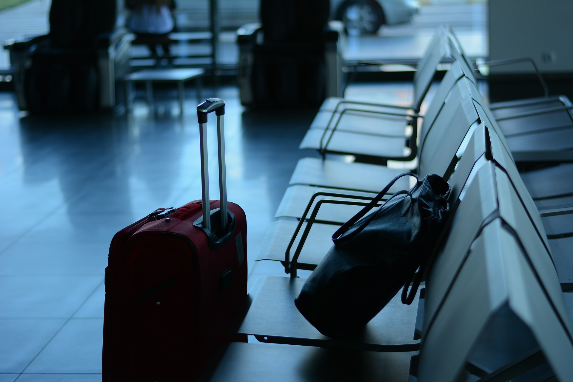 Luggage at an airport (alluding to accessibility and portability) of business collateral