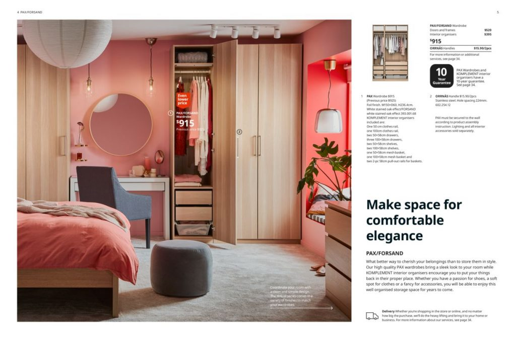 Ikea product catalog layout design example (section page)