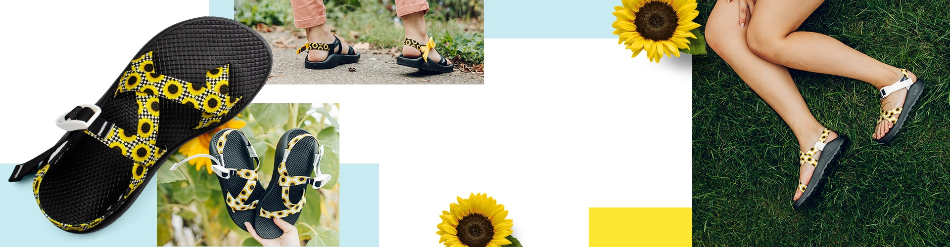 Themed product image page layout (Spring them for Chacos sandals)