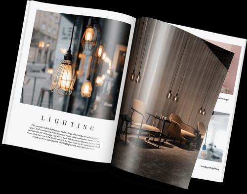 Catalog layout design (hard print magazine issue)