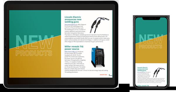 Industrial product magazine website found through digital marketing services