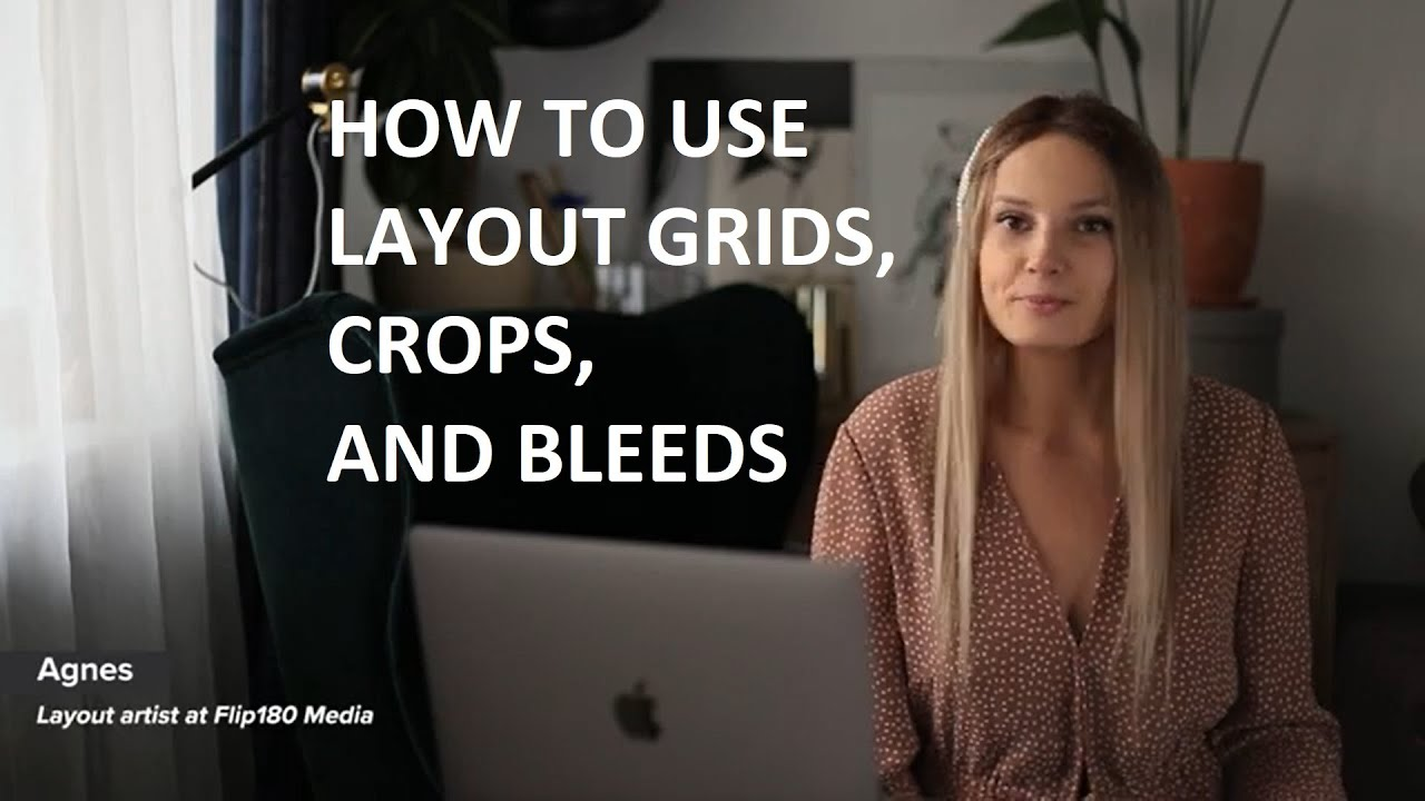Magazine layout InDesign tutorial video: how to use layout grid, crops, and bleed