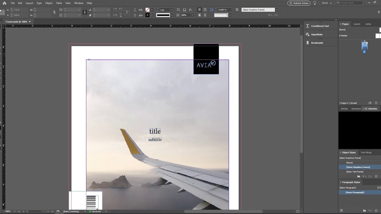 How to design a magazine with InDesign - a cover in under 15 minutes!