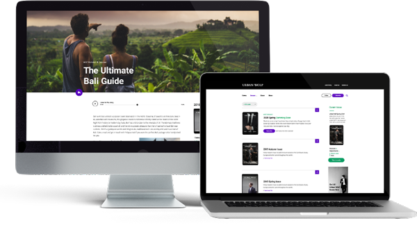 Responsive website designed with the device in mind