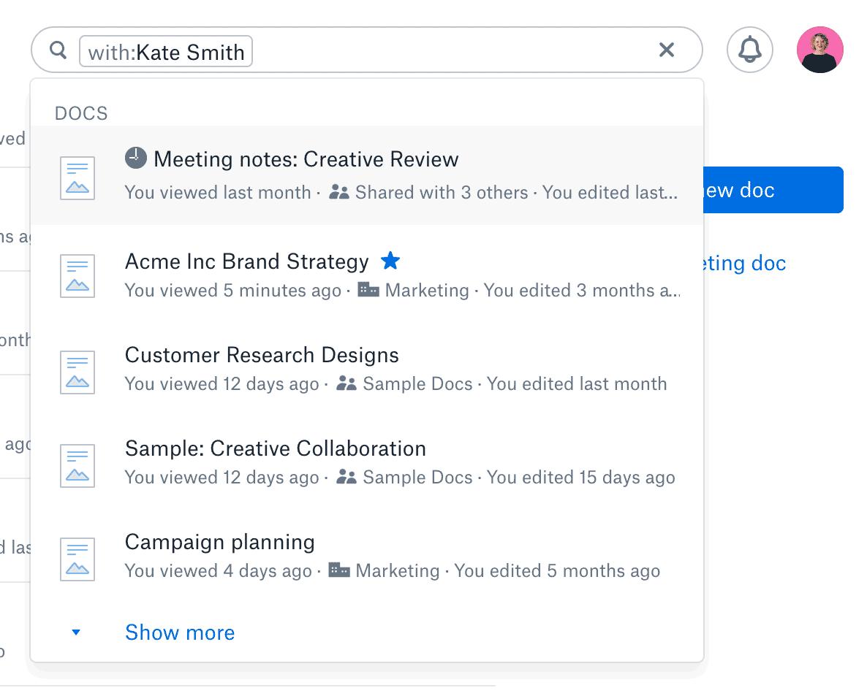 Dropbox review paper templates tool