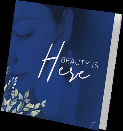 Beauty bi-fold brochure design