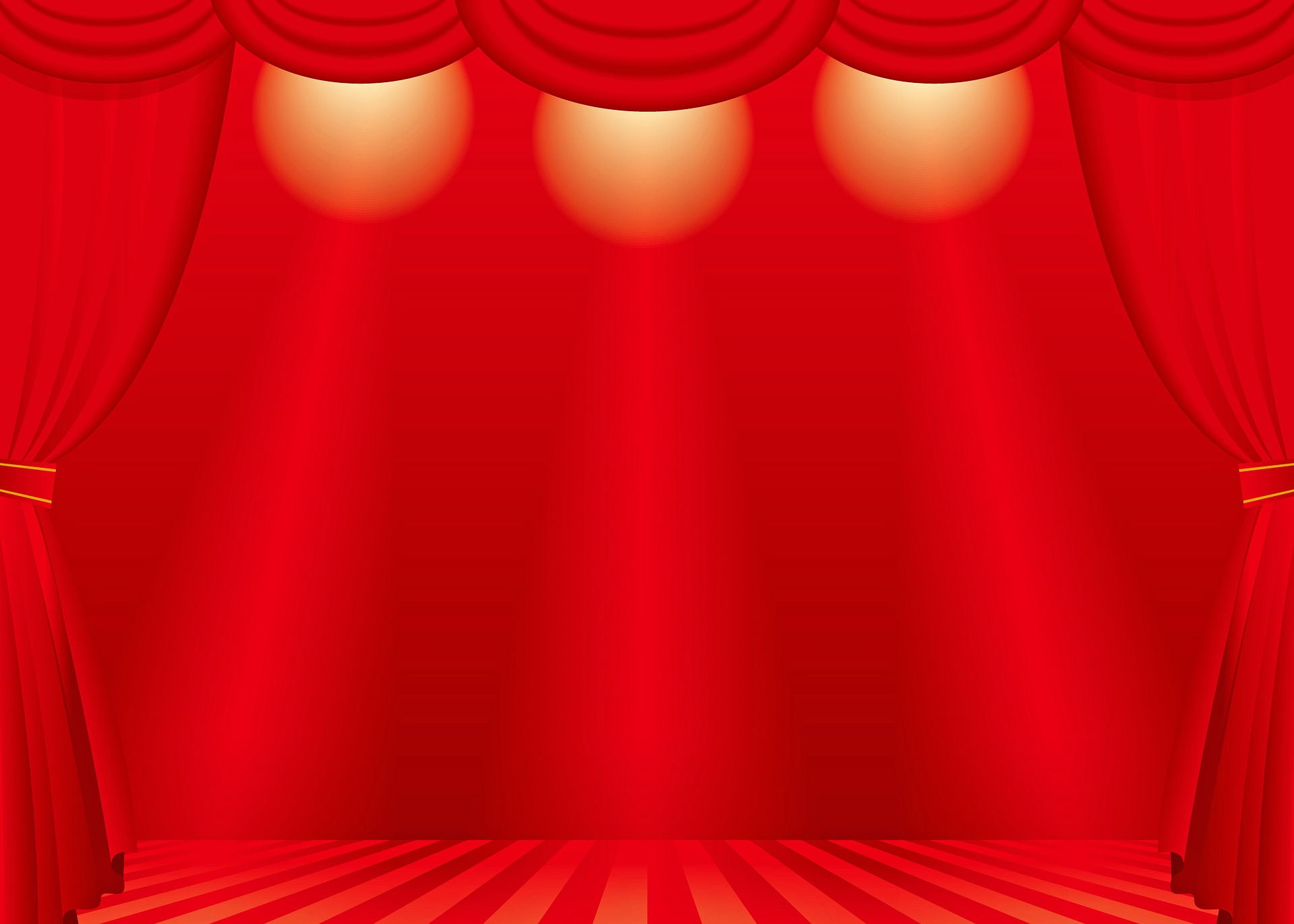 Red stage as metaphor for audience targeting