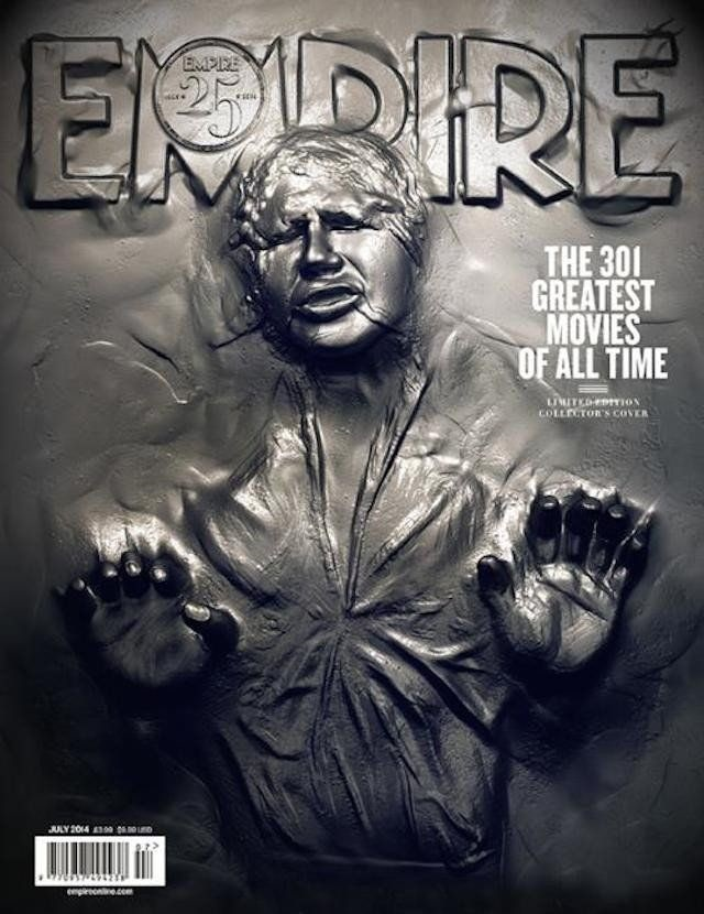 Culture-Themed Magazine Cover Example (Empire Magazine - Han Solo Carbon Freeze Cover Image)