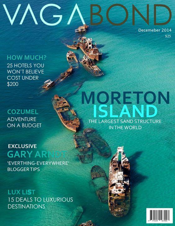 VAGABON MAGAZINE cover (Exotic Travel Magazine Cover Idea)