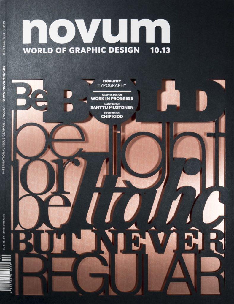 Laser Cut Magazine Cover Design Idea (Novum Magazine)