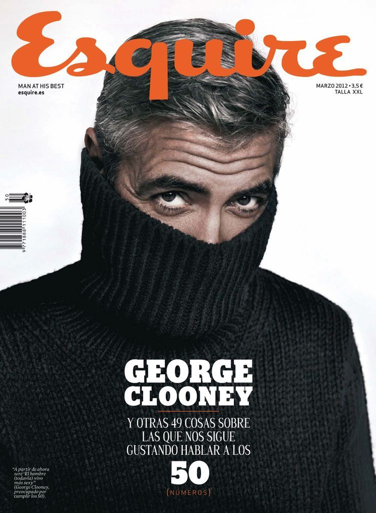 Quirkly magazine cover example (w/ George Clooney)