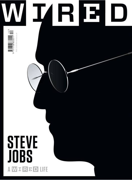 Sillouette Magazine Cover Example (Wired Magazine's Steve Jobs Feature Issue)