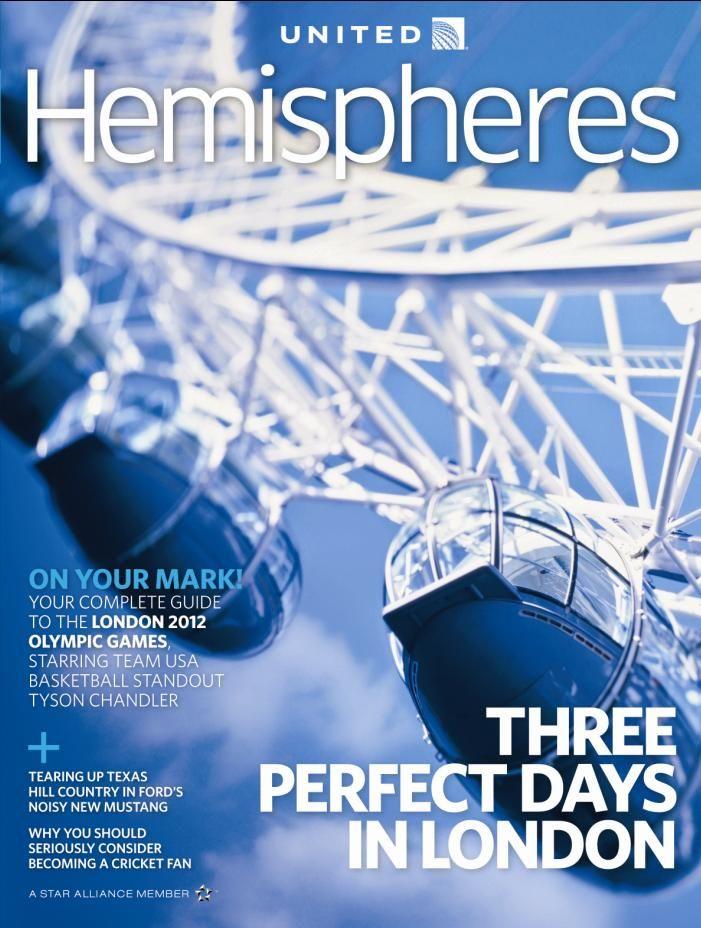 Travel Magazine Cover Idea (Hemispheres Magazine)